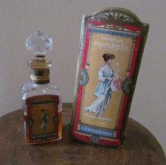 Gorgeous vintage Pompeia by LT Piver perfume bottle and box, circa 1922.
