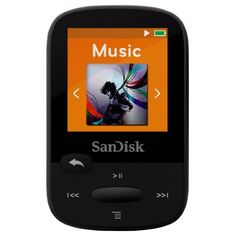 SanDisk Clip Sport 4GB MP3 Player, Black With LCD Screen and MicroSDHC Card Slot- SDMX24-004G-G46K #sandisk #electronics