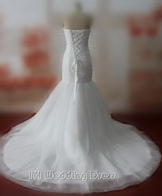 179.00$  Buy now - http://viqwr.justgood.pw/vig/item.php?t=u50roy25818 - Real Samples Mermaid Wedding Dresses Strapless Chapel Train Wedding Gowns