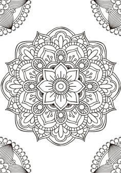 Mandala fleur simple unique doodle art doodle it. Mandala Art, Mandala Design, Mandalas Painting, Mandalas Drawing, Mandala Coloring Pages, Mandala Pattern, Zentangle Patterns, Dot Painting, Adult Coloring Pages