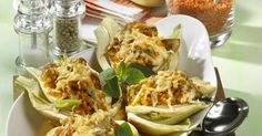 The best Lentil-Stuffed Baked Fennel recipe you will ever find. Welcome to RecipesPlus, your premier destination for delicious and dreamy food inspiration. Fennel Recipes, Vegan Recipes, Baked Fennel, Onion Vegetable, Lentils, Food Inspiration, Vegan Vegetarian, Stuffed Mushrooms, Dishes