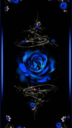 Blue Rose wallpaper by theyyloveelenaa - - Free on ZEDGE™ Black And Blue Wallpaper, Blue Roses Wallpaper, Gothic Wallpaper, Flower Phone Wallpaper, Heart Wallpaper, Butterfly Wallpaper, Cute Wallpaper Backgrounds, Cellphone Wallpaper, Colorful Wallpaper