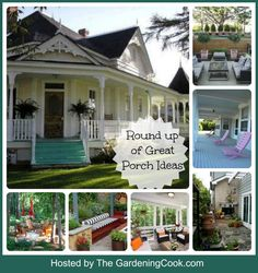There is nothing quite like a great porch for curb appearl.  Get inspired with these great porch ideas.