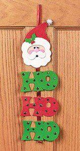 Artesanato Fofo: Moldes de Papai Noel                                                                                                                                                                                 Mais Felt Christmas Decorations, Christmas Bells, Diy Christmas Ornaments, Felt Crafts, Christmas Crafts, Christmas Sewing, Kids Christmas, Christmas Classroom Door, Felt Ornaments Patterns