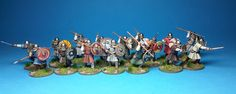 ::Mordred throws his lot in with Saxon mercenaries:: 28mm Dark Age Models sculpted by Colin Patten