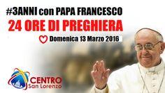 Veglia di preghiera di 24 ore per il terzo anno di pontificato di Papa Francesco http://www.cercoiltuovolto.it/notizie/i-papaboys-organizzano-una-veglia-di-24-ore-per-i-3-anni-con-papa-francesco/