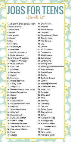 Jobs for Teens: The Ultimate List of Where to Apply – Finance tips, saving money, budgeting planner Ways To Get Money, Money Tips, Money Saving Tips, Money Hacks, Raise Money, How To Get Money Fast, Money Plan, Teenager Jobs, Teen Jobs