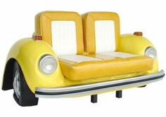 VW Beetle Couch! Totally awesome! I could see this done with a few different sweet cars. :)