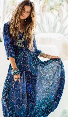 Spells~Kiss the Sky Gown #boho #bohemian #gypsy