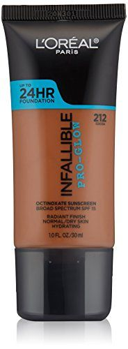 L'Oreal Paris Cosmetics Infallible Face Pro-Glow Foundation, Cocoa, 1 Fluid Ounce - http://buyonlinemakeup.com/loreal-paris/cocoa-loreal-paris-cosmetics-infallible-face-pro