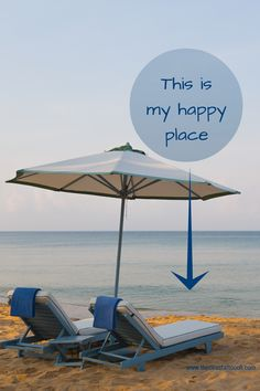 Beach Quote:  My Happy Place