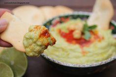 Cosicas dulces...y alguna salada: Hummus de aguacate con galletas marineras