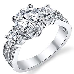 """1.50 Carat Round Cubic Zirconia """" Past, Present, Future"""" Sterling Silver 925 Wedding Engagement Ring 4 $26.99 https://www.amazon.com/gp/product/B00BLRNV5W/ref=as_li_tl?ie=UTF8&tag=goldelifes-20&camp=1789&creative=9325&linkCode=as2&creativeASIN=B00BLRNV5W&linkId=bf2d0f26896868744ee05a84cde9ff57"""