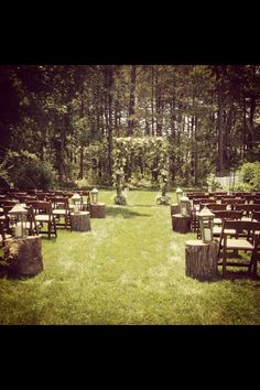 Rustic wedding isle