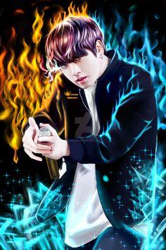 bts jungkook fanart collaboration digital version by kekeliv Jungkook Fanart, Bts Jungkook, Fanart Bts, Taehyung, Bts Drawings, Couple Drawings, Jung Kook, Bts Love, Cartoon Network Adventure Time
