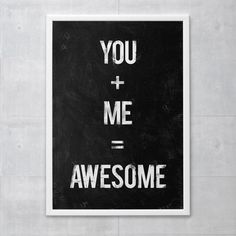 Poster You Me Awesome - R$ 69,00 no MercadoLivre