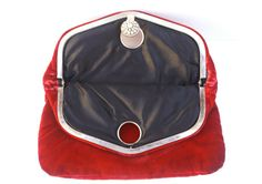 Vintage Red Velvet Clutch by GDK by RinVinJewelry on Etsy, $35.00