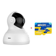 [HK Stock] Official EU Edition YI Dome Camera with 32GB Micro SD Pan/Tilt/Zoom Wireless IP Security Surveillance System 720p HD Night Vision (EU Edition)-White