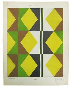 Sonia Delaunay green brown triangles