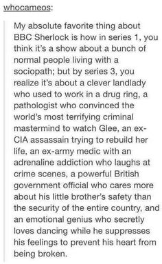 Why Sherlock is amazing.