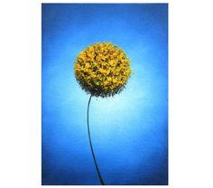 Yellow Floral Art Photographic Print, Abstract Flower Art, Photo Print, Contemporary Minimalist Art Poster, Gold Dandelion Flower Home Decor by BingArt on Etsy
