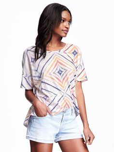 ON: Relaxed Boatneck Tee for Women  $17