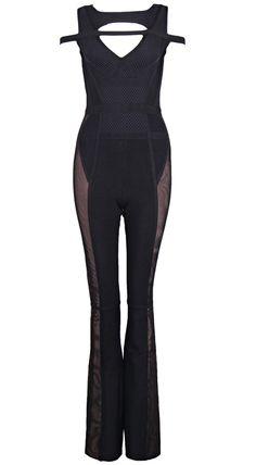 Crochet Insert Bandage Jumpsuit Black 76d19a5c1