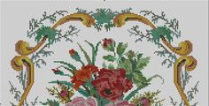 Gallery.ru / Фото #31 - Вышивки моей мамы (и схемы к ним) - livadika Free Pictures, Free Images, Cross Stitch Cushion, Vintage Cross Stitches, Needlepoint, Kids Rugs, Flowers, Zoom Zoom, Ph