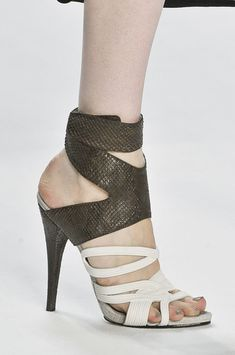 Great mix of textures and colors - sandals by Narciso Rodriguez
