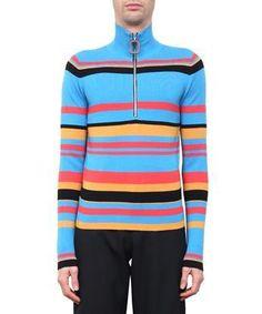 Black Half-Striped Wool Sweater Discounts Sale Online kWLREPMii