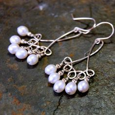 wire jig earrings