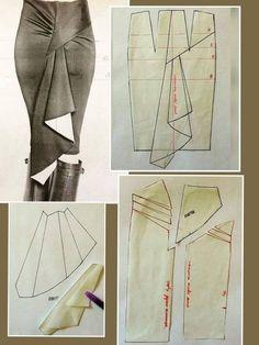 37 Ideas for diy fashion clothing dress costura Dress Sewing Patterns, Clothing Patterns, Pattern Sewing, Skirt Sewing, Fashion Sewing, Diy Fashion, Moda Fashion, Dress Fashion, Sewing Hacks