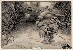 El artista-ilustrador Edward Binkley