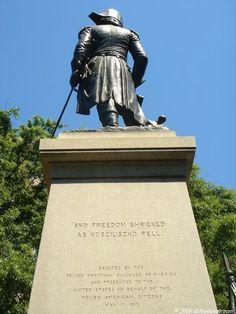KOSCIUSZKO, Thaddeus (Tadeusz): Memorial in Lafayette Park in Washington, D.C. by Antonia Popiel located in James M. Goode's Pennsylvania Avenue area