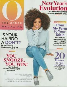 O, The Oprah Magazine is a women's magazine that speaks to and connects with women. Inside are articles that emphasize personal growth in relationships, career, and health with advice from your favorite stars. 12 Issues per year O The Oprah Magazine, January 1, Oprah Winfrey, Michelle Obama, Live For Yourself, Healthy Skin, Feel Good, Anti Aging, Evolution