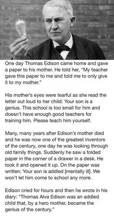 Funny Memes – [One Day Thomas Edison Came Home] The Words, John Johnson, Faith In Humanity Restored, Wtf Fun Facts, Random Facts, Funny Facts, The More You Know, History Facts, Good People