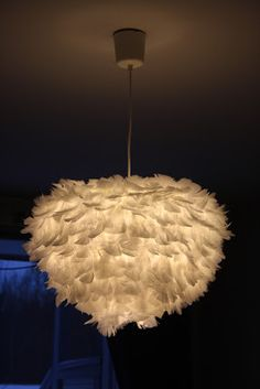 feather lamp DIY by Lena Nordin