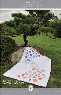 Casey York Sakura Quilt and Pillow - Downloadable Pattern