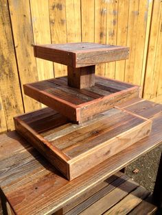 Reclaimed Wood Cupcake Stand - holds 50 – Rustic Rentals SF