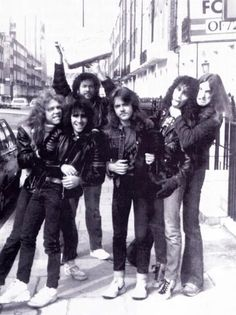 a-dash-of-bourbon: Metallica with Scott Ian & Jon Zazula, 1984