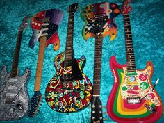Wild Psychedelic Precision P Bass Guitar Fender MIM Mexican Vintage USA Painted | eBay