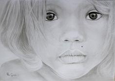 Amazing eyes   Pencil drawing. by Ria Gnodde