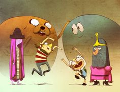 What the what?!!  Adventure time meets The Misadventures of Flapjack