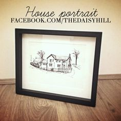 #Bespoke #HandDrawn #HousePortrait #GiftIdea #Wedding #NewHome #FirstHome #Anniversary Order from facebook.com/thedaisyhill