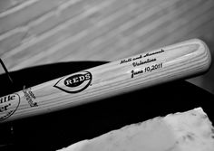 Order one of our Louisville Slugger custom bats for your Baseball Bat Guestbook  #stwdotcom  #baseballwedding