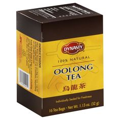 Enjoy a satisfying cup with this Pack of Dynasty Oolong Tea Bags. It is famous in China and completely natural. This Dynasty tea has a mild and sweet flavor. Have some as is or enhance with a little honey or sugar. Thé Oolong, But First Coffee, Iced Tea, Counting, Packing, Walmart, Bags, Stuff To Buy, Chai