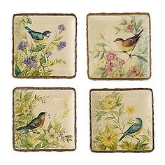 Square plates, Celebrating Home Susan Winget collection