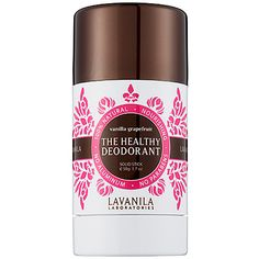 Deodorants Clinical-strength deodorant on a budget is within reach thanks to Lavanila's The Healthy Deodorant in Pure Vanilla ($8). It smells divine too.