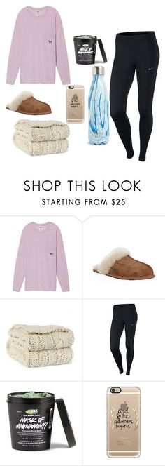 """""""This week has been probably the worst and best week all at once"""" by preppygurl02 on Polyvore featuring Victoria's Secret, UGG, NIKE, Casetify and S'well"""