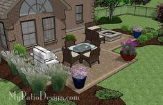 Patio Style– Expanding Your Residence Outdoors – Outdoor Patio Decor Small Patio Design, Outdoor Patio Designs, Patio Ideas, Outdoor Decor, Backyard Ideas, Outdoor Living, Pergola Ideas, Outdoor Ideas, Outdoor Spaces